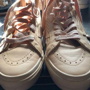 Vans nude leather sneakers